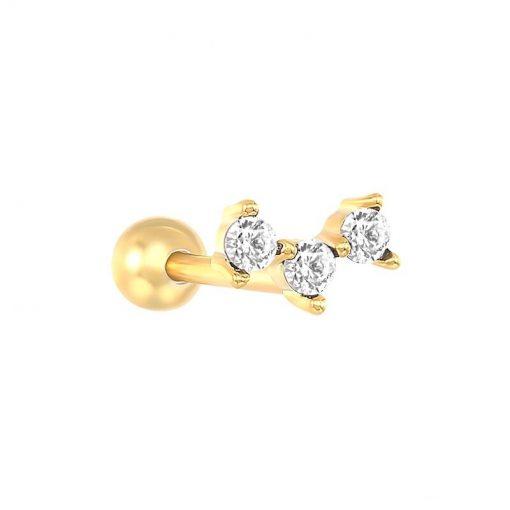 Pendientes Constelación Oro y Negro. Ideales pendientes mini de oro con diamantitos y piedras. Llevar como joya principal o como piercings.