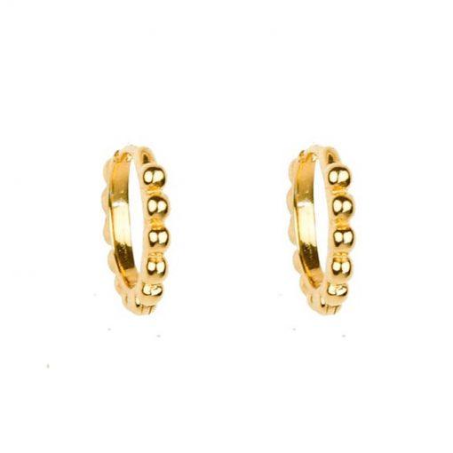 Pendientes Aro Burbujita Oro Plata. Pendientes de Aro pequeños, dorados plateados con burbujas. Aros de oro y plata.