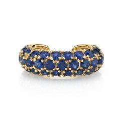 Pendiente Earcuff Shiny Oro. Pendientes earcuff dorados de oro con cristales de varios colores. Pendientes sin agujero.
