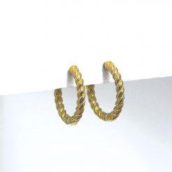 Pendientes Aro Retorcido Oro